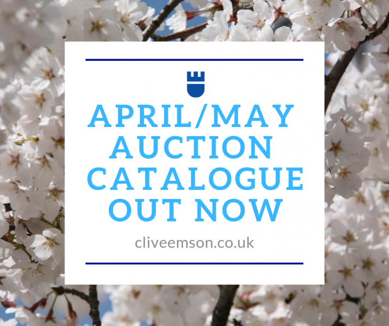 3478dc7ceff9 April May Auction Catalogue is out now! - Clive Emson Auctioneers